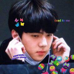 Exo Xiumin, Kpop Exo, Sehun Cute, Exo Memes, Cybergoth, Pretty Baby, Cute Icons, Kpop Aesthetic, K Idols