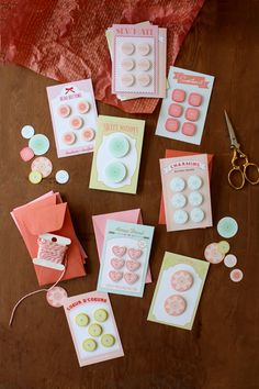Button Card Valentines