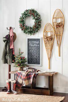 Cozy Ski Lodge Inspired Christmas Tour - The Lilypad Cottage