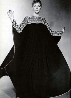 Jean Guy Vermont, L'Officiel magazine 1970s caftan dress