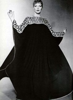 Jean Guy Vermont, L'Officiel magazine 1970s caftan dress