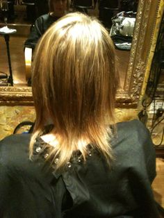 The Client's hair Before my Wisdom Extensions from the back