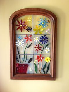 Recycled an old mirror frame of my Mom's and planted some flowers.  Some of the flowers are 3D.