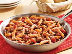 One-Skillet Italian Sausage Pasta Recipe  -  Ready in 30 minutes!  Click on the photo for the easy recipe.  ENJOY!