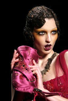 Christian Dior Fall 2009 RTW Collection, Model: Georgina Stojikovic, Key Makeup Artist: Pat McGrath