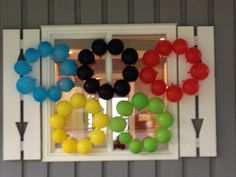 Olympic balloon decoration
