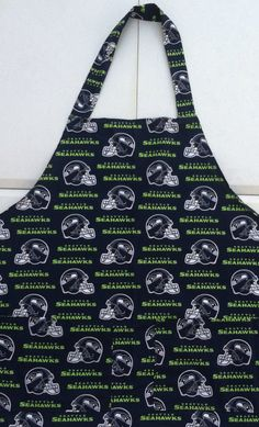 Seattle Seahawks BBQ apron with 2 large pockets by AuntShellDesigns on Etsy https://www.etsy.com/listing/198195139/seattle-seahawks-bbq-apron-with-2-large