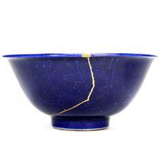 Kashibachi (bol à gâteaux), kintsugi, œuvre d'art céramique