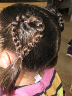 Valentine's day hairdo for little girls. <3 :D Doing this on my little sista Melody! :D