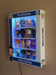 Custom Made Display Case Funko Pop! Vinyl Figures With Led Lights ...