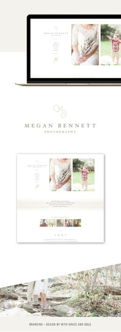 Branding and Web Design for Megan Bennett Photography   With Grace and Gold   Branding and Web Design for Creative Women in Business #brand #brands #branding #logo #design #designs #for #creative #creatives #women #female #business #businesses #small #owner #owners #professional #polished #unique #fun #colorful #pink #blush #nude #design #designs #web #website #inspiration #photographer #photographers #wedding #senior #portrait #family