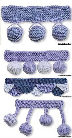 Ideas for crochet blanket edging pattern stitches Crochet Blanket Edging, Crochet Motifs, Crochet Stitches Patterns, Knitting Stitches, Chunky Knitting Patterns, Lace Knitting, Crochet Fish, Knit Crochet, Knitted Baby