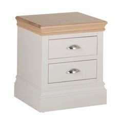 Lundy Painted 2 Drawer Bedside with Oak Top G Plan Furniture, Pine Furniture, Dining Room Furniture, Solid Pine, Solid Oak, Tongue And Groove Panelling, Bedside Chest, Affordable Furniture