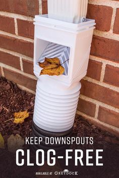 Remove unwanted leaves and debris from your gutter and downspouts with the Amerimax Flex-Grate Downspout Debris Filter Strainer Gutter Leaf Guard Residential Connector in White. The clog-free downspout connection prevents debris buildup in your drainage. Gutter Drainage, Yard Drainage, Gutter Leaf Guard, Gutter Guards, Concrete Leaves, Concrete Patio, Decorative Downspouts, Landscape Drainage, Backyard Playground