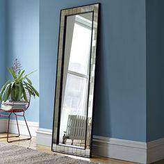 "Family room, 26""w x 1""d x 72""h., Antique Tiled Floor Mirror | west elm"