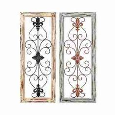 diy idea to self....buy metal wall art from Ross....frame with cheap wood from homedepot and detress.