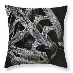 All Throw Pillows - Glowing Sword Hilt Throw Pillow by Lovina Wright