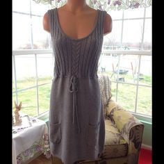 Pretty Aeropostale Sweater Dress NWOT This is a very well made sweater dress is new with out tags. Pretty gray with a drawstring waist. Aeropostale Dresses Midi