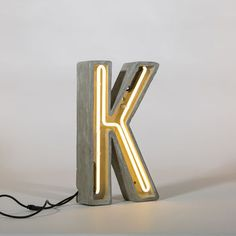 Concrete And Neon Alphabet Letter Light