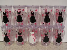 bachelorette party, girls night out, wedding tumblers and cups for bridesmaids, beach, cruise, flower girls and more via Etsy