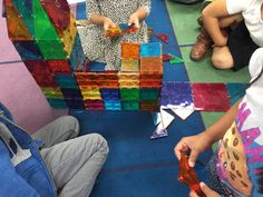 Using our #magnatiles for the first time today, thanks to @DonorsChoose
