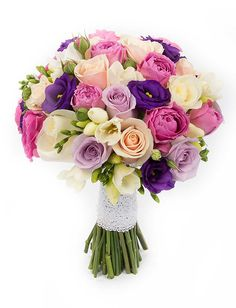 Buchet de mireasa colorat trandafiri si frezii FlorideLux Cluj is part of Elegant wedding bouquets - Prom Flowers, Diy Wedding Flowers, Bridal Flowers, Floral Wedding, Beautiful Flowers, Elegant Wedding, Bouquet Wedding, Beautiful Flower Arrangements, Wedding Flower Arrangements