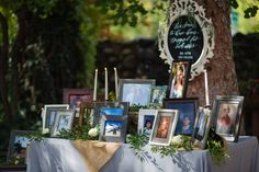 Timeline photos of the bride and groom. Display by @RefinedVE. Image taken by Dave Cawley