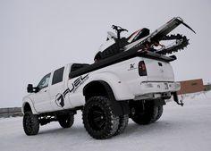 Ready Ride! #Snowmobiling 2012 F-350