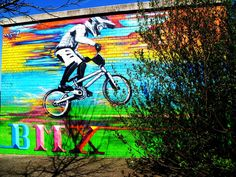 British Cycling Centre BMX Rider nr Ashton Canal
