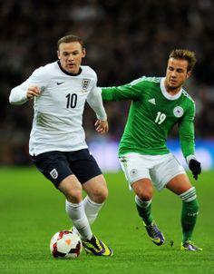 11/20/2013 International Friendly. England 0 - 1 Deutschland ~ Wayne Rooney of England against Mario Gotze of Germany ~