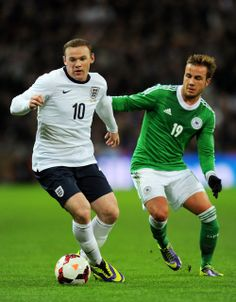 11/20/2013 International Friendly. England 0 - 1 Deutschland ~ Wayne Rooney of England against Mario Gotze of Germany ~