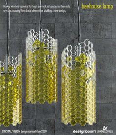 Honeycomb-Inspired Lighting  -I love the shape but I think I'd much prefer different colors and materials.