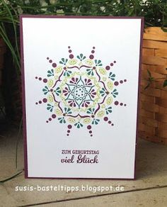 Karten mit Stampin' Up! Stempelset Schönheit des Orients und Incolor 2017/18 von unabh. Demonstratorin in Coburg