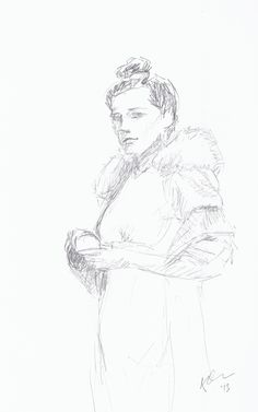 Sketch of one of the photos in Closer (http://www.thesartorialist.com/book-closer/)