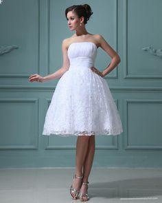 Strapless Short Wedding Dresses - Ocodea.com