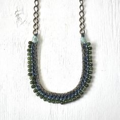 Handmade Gift Guide: 10 Gorgeous Crochet Items from Amazon Handmade: #Crochet Chains and Peridot Necklace