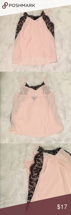 Blush Sheer Cami (NWOT) Never worn. No stains, holes or flaws. Very sheer. The material does not stretch. by&by Tops Camisoles