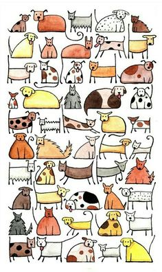 50 Hunde, Kunstdruck & Zeichnen & 50 Dogs, Art Print & Drawing & draw The post 50 Dogs, Art Print & Drawing & # Dogs Print appeared first on Craft Ideas. Doodle Drawings, Doodle Art, Doodle Ideas, Grafik Design, Dog Art, Art For Kids, Art Projects, Clip Art, Illustrations