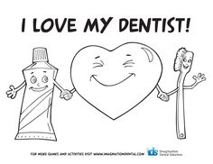 teeth coloring pages | 13–Page Dental Fun Activity Book (3 to 8 ...