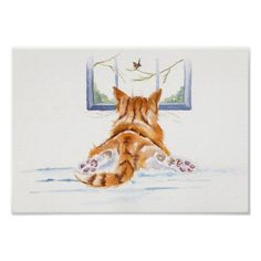 "Ginger Cats / kittens: ""Window Shopping"" Poster"