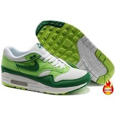 sports shoes c8060 d5fac Nike Air Max 1 Women Shoes White Green Dark Green Color Cheap Nike Air