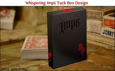 Box for Whispering Imps™ Playing Cards (with stamped-foil design) by Chris Chelko — Kickstarter