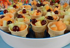 Fruit cones.  The perfect healthy grab-n-go snack for toddlers.