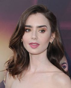 Lily Collins Pictures and Photos Lily Collins Hair, Foreign Celebrities, Hair Reference, Light Brown Hair, Beautiful Celebrities, Pretty People, Hair Goals, Wedding Hairstyles, Makeup Looks