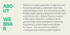 Webnar™ - Webfont & Desktop font « MyFonts