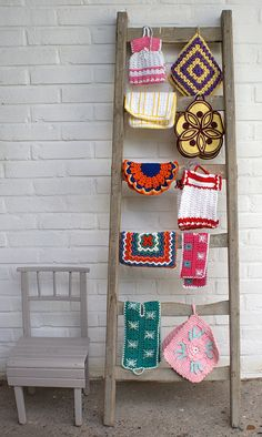 thrifted crochet work  by Ingthings, via Flickr