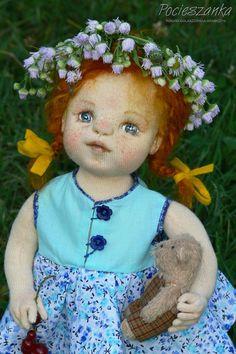 Inka: 15 rag OOAK doll by Pocieszanka on Etsy
