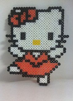Hello Kitty hama perler beads by MadebyBlackSheep