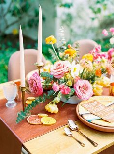 Citrus-inspired colors like pink, yellow, and orange make quite a statement on the big day. These bright colors are whimsical and upbeat. Bohemian Wedding Theme, Wedding Themes, Floral Wedding, Wedding Blog, Wedding Ideas, Wedding Dresses, Winter Wedding Colors, Pretty Pastel, Bridal Gifts