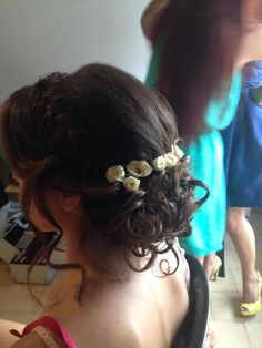 Formal Hair: This is a beautiful curly hairstyle that can be used for a formal event or just going out with friends.. It can also be worn if out on the beach. Hair by Ermi Sdrali @Hairmine